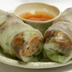 Vietnamese Grilled Chicken Rolls