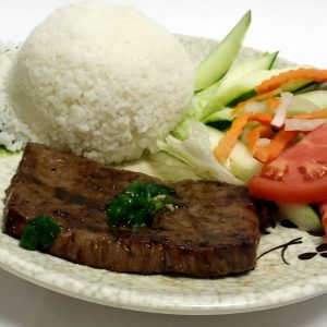 Com Bo Nuong (Grilled Marinated Rib Eye Steak)
