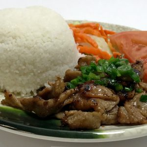 Com Thit Nuong (Grilled Marinated Sliced Pork)