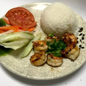 Com Tom Nuong (Grilled Marinated Shrimps)
