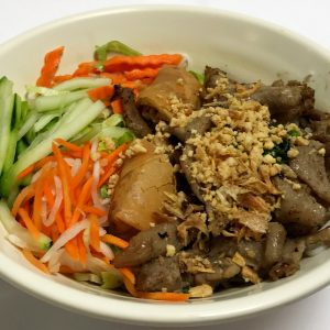 Bun Thit Nuong Cha Gio (Noodle Bowl with Grilled Pork and Spring Rolls)