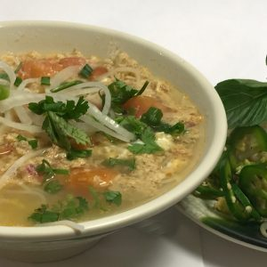 Bun Rieu (Tomato and Crabmeat Soup)
