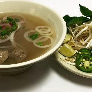 Pho Tai Bo Vien (Eye-Round Steak & Beef Meatballs)