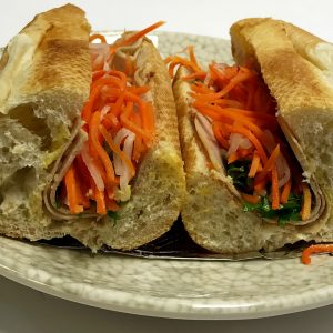 Banh Mi Cha Lua (Sliced Vietnamese Pork Roll Sandwiches)