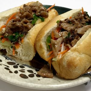 Banh Mi Thit Nuong (Grilled Marinated Sliced Pork Sandwiches)