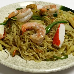 Seafood Singapore Noodles (Spicy)
